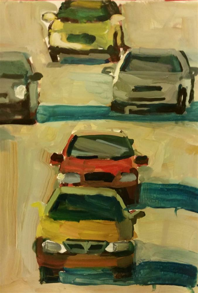 """Rush Hour"" original fine art by Liz Maynes"