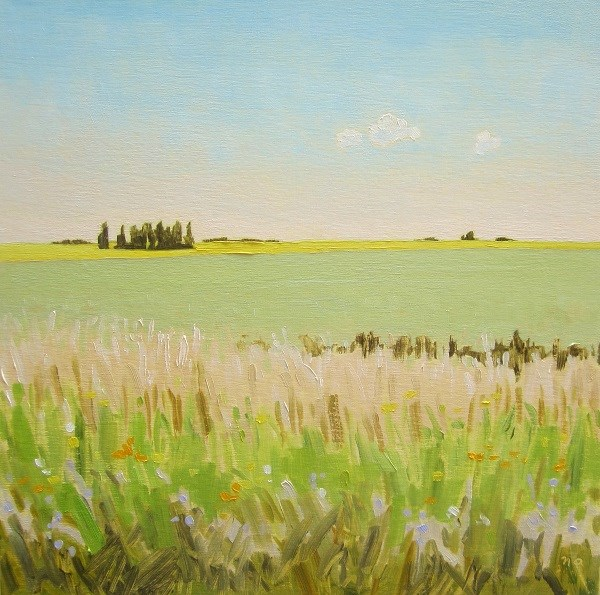 """Prairie Layers"" original fine art by Nicki Ault"