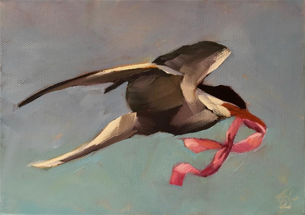 """""""Thinking Pink"""" original fine art by Bobbie Cook"""