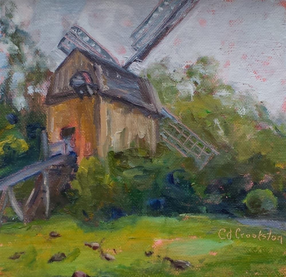"""Windmill Challenge"" original fine art by Catherine Crookston"