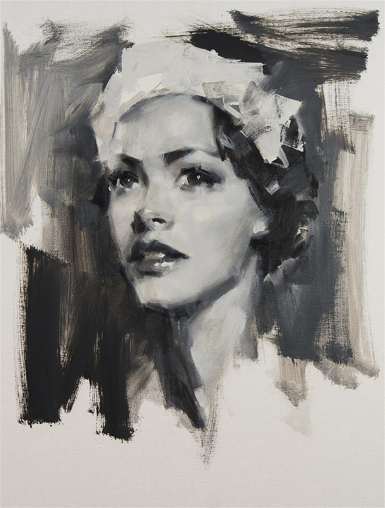 """Black and White Study"" original fine art by Mike Peterson"