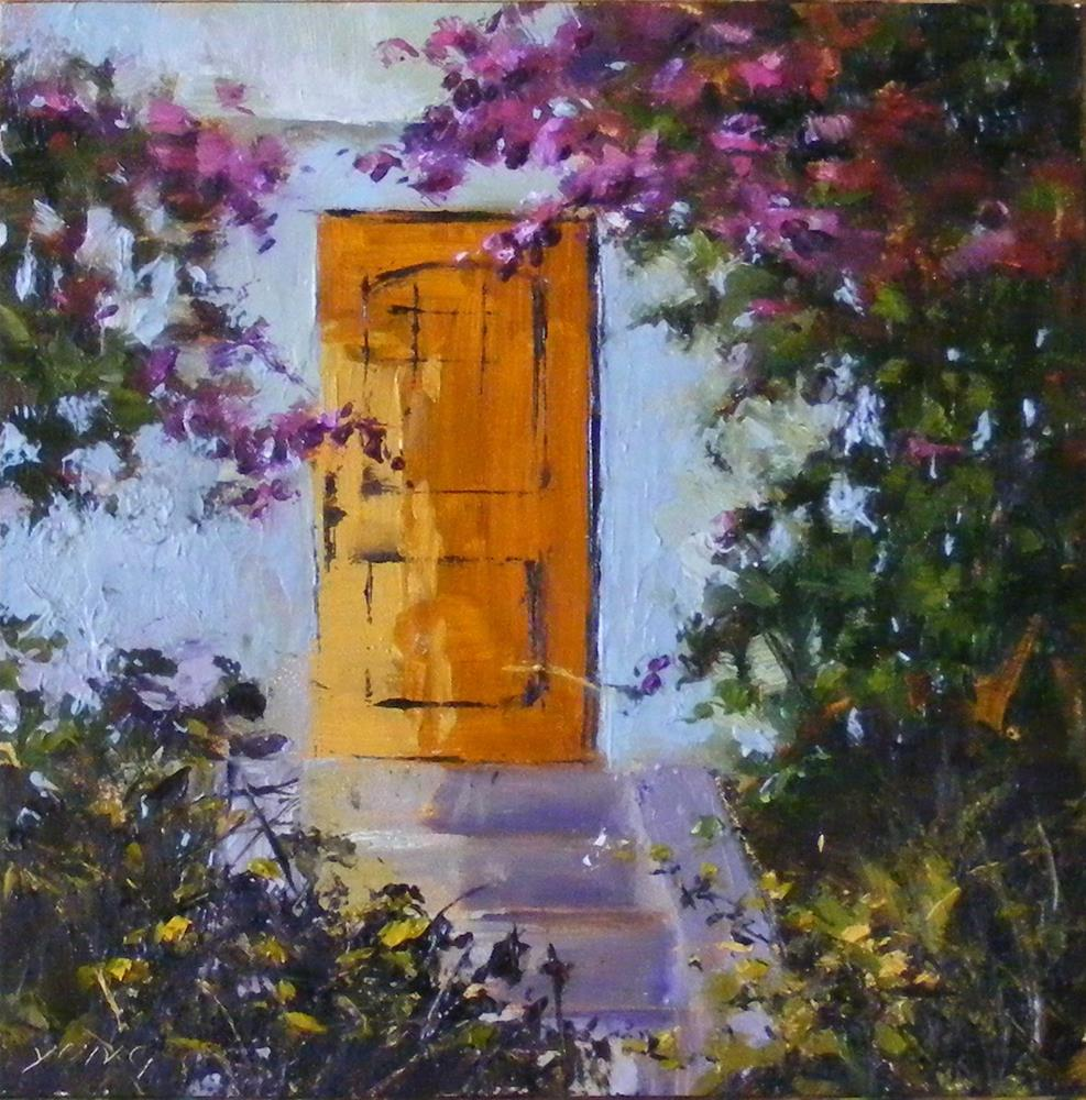 """""""Sunlit door"""" original fine art by Celine K.  Yong"""