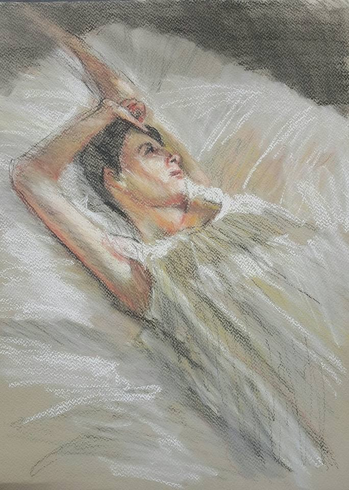 """While you were sleeping"" original fine art by Rentia Coetzee"