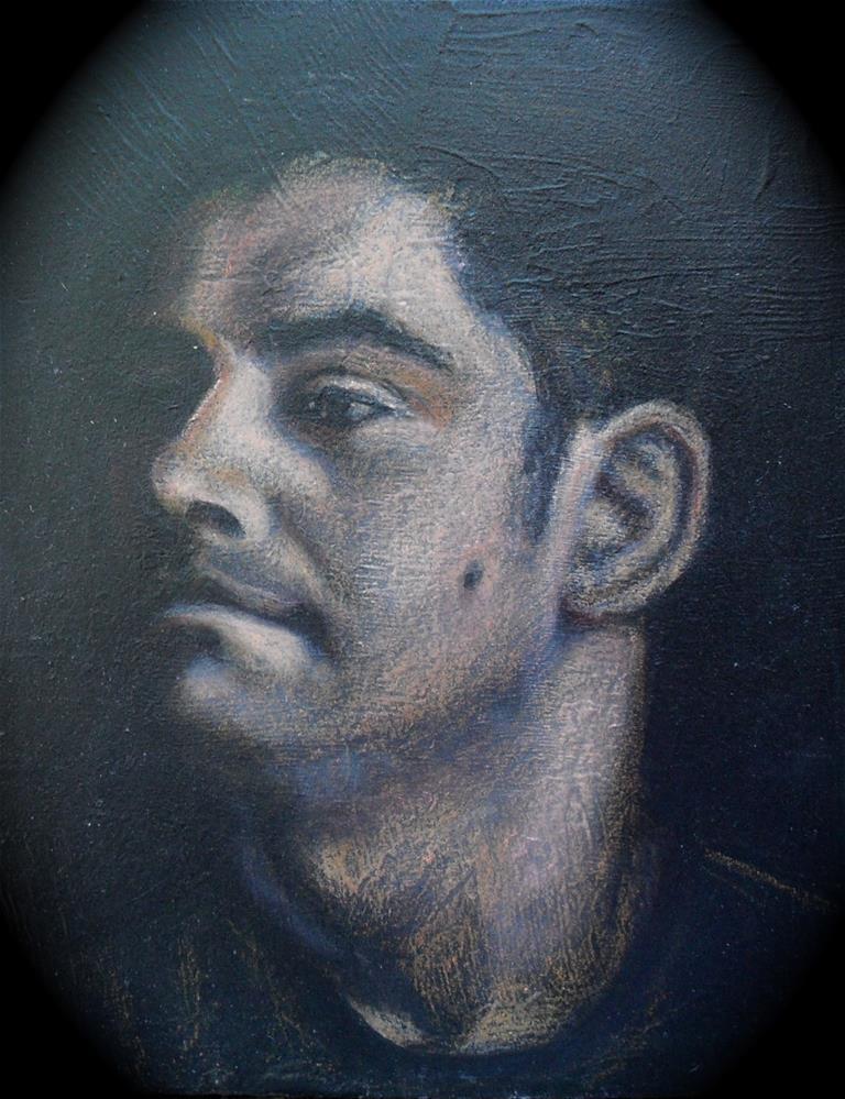 """Denny"" original fine art by Karen Roncari"