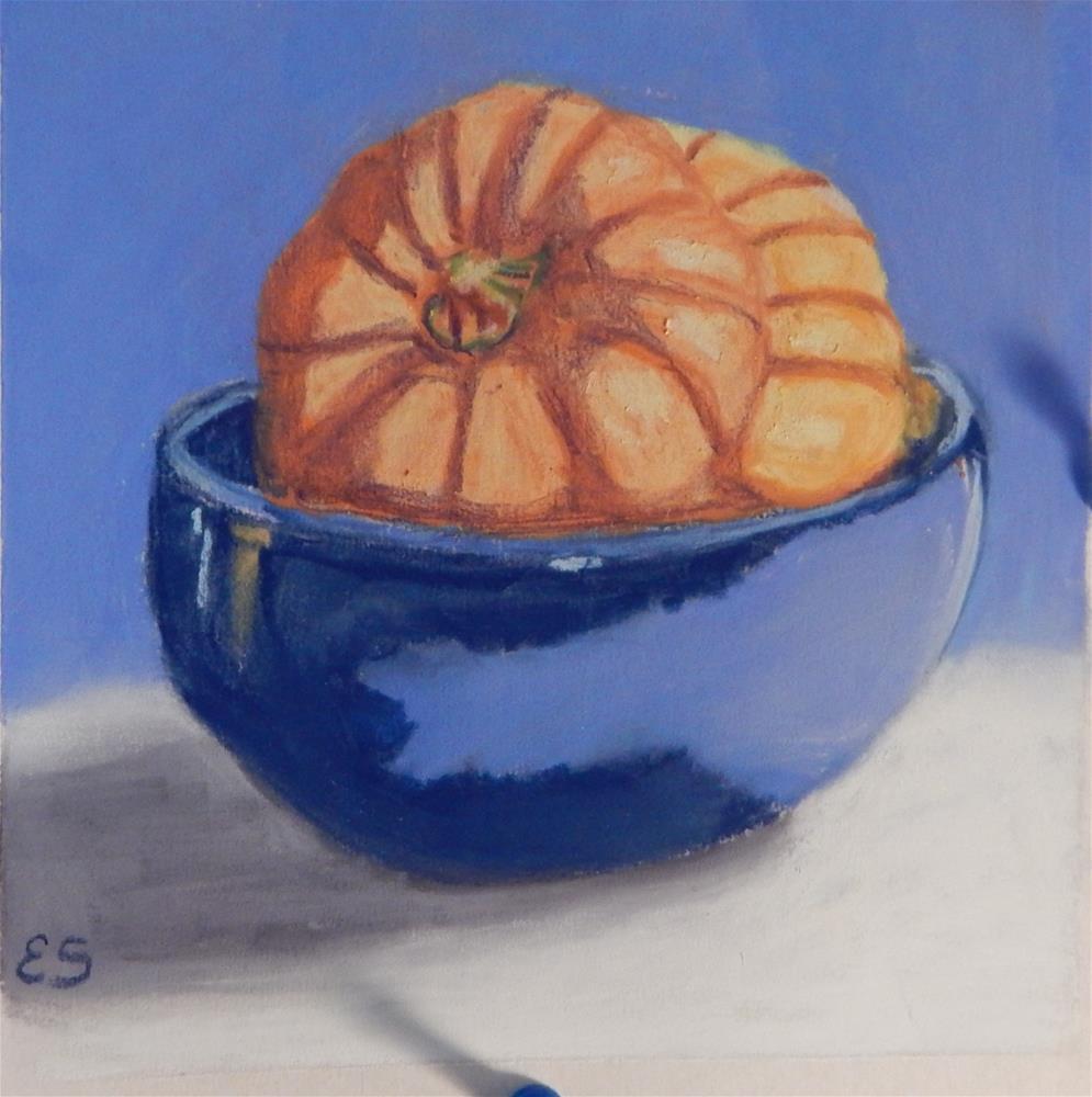 """Orange & Blue"" original fine art by Elaine Shortall"