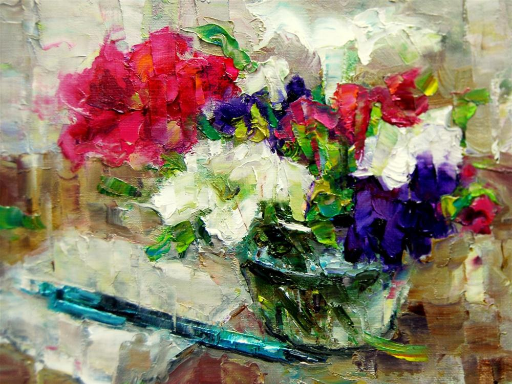 """Petunia Profusion"" original fine art by Julie Ford Oliver"