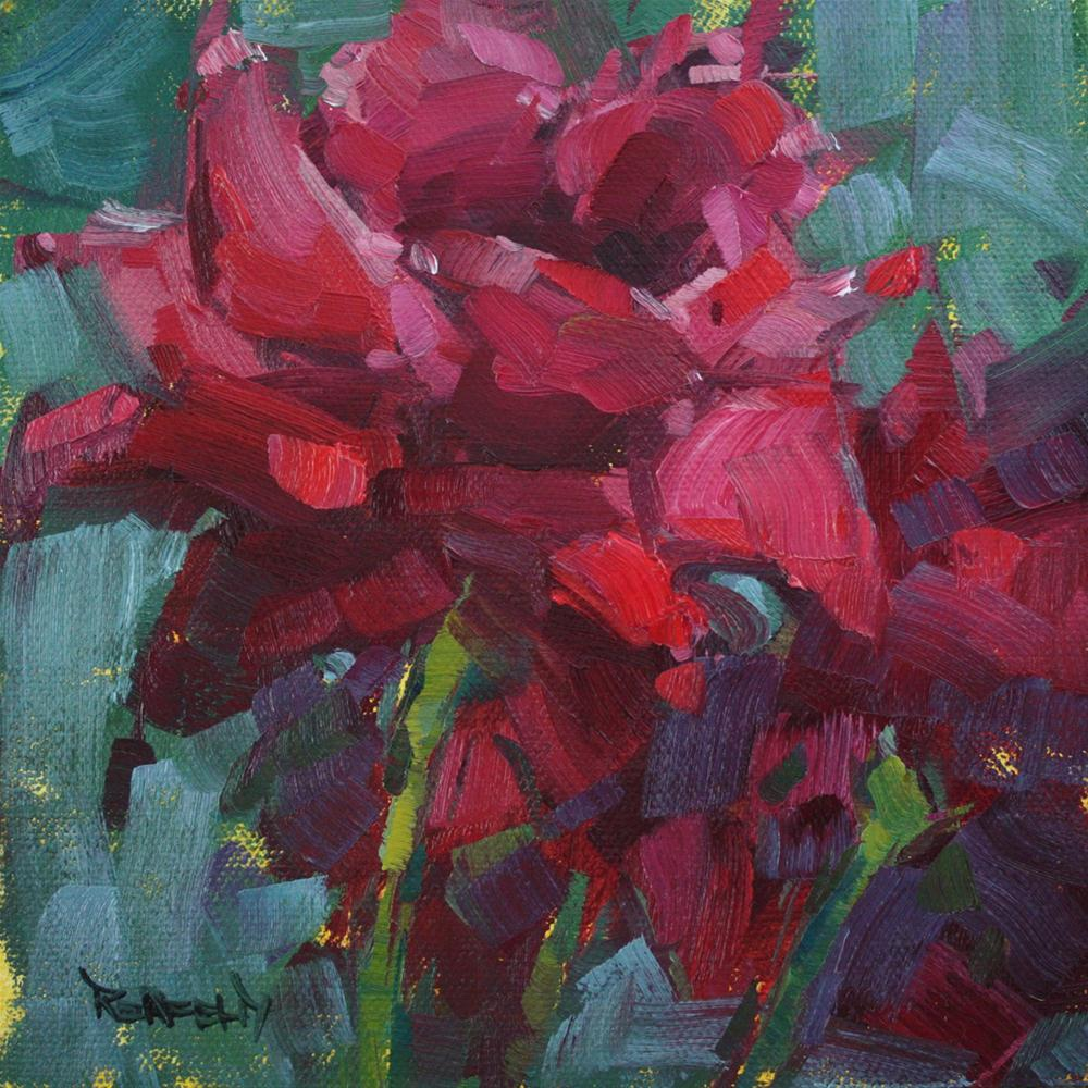 """Impressionism Rose"" original fine art by Cathleen Rehfeld"