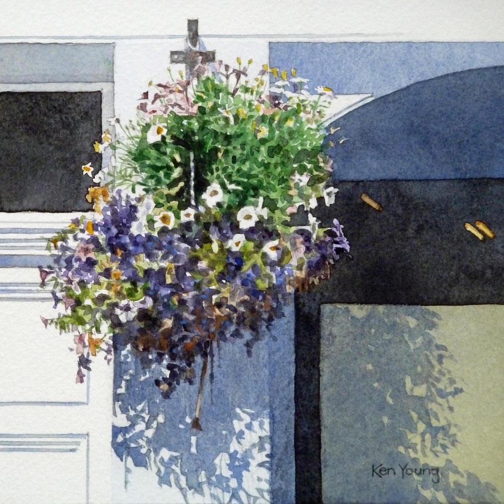 """Hanging Basket #4"" original fine art by Ken Young"