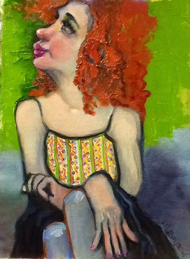"""My Friend Sue"" original fine art by Nancy Levinson"