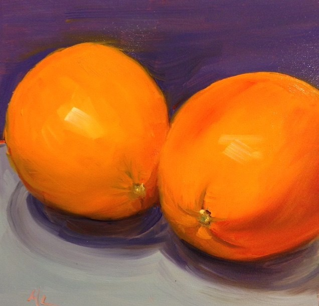 """Orange Ya Glad"" original fine art by Marjie Laizure"