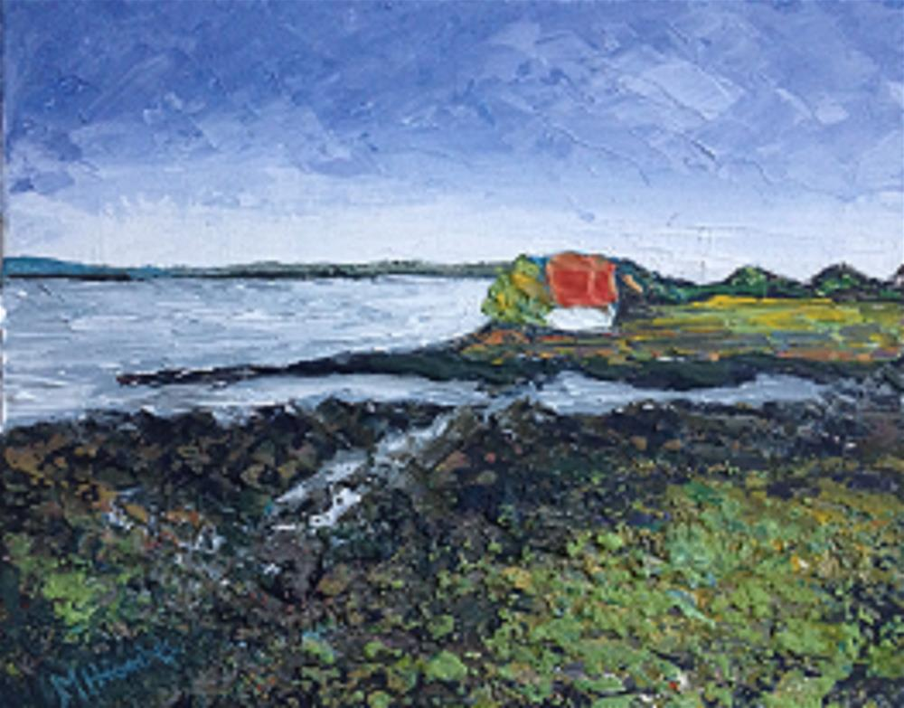 """OCEAN'S EDGE"" original fine art by Marie O' Higgins"