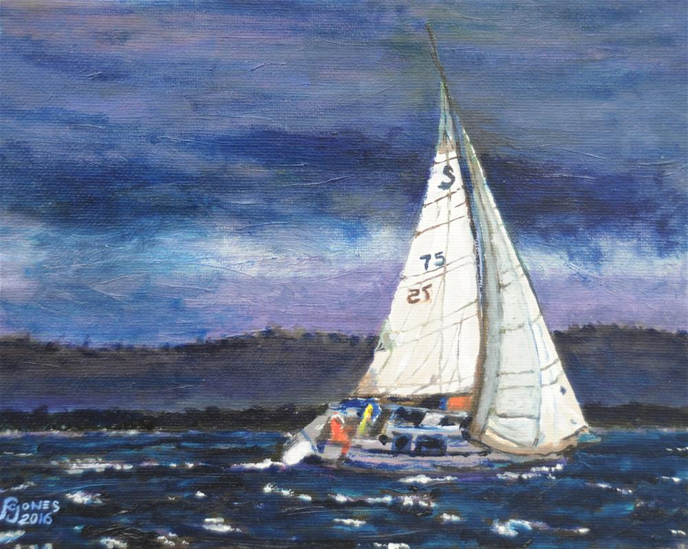 """""""Caught in the Storm"""" original fine art by Fred Jones"""