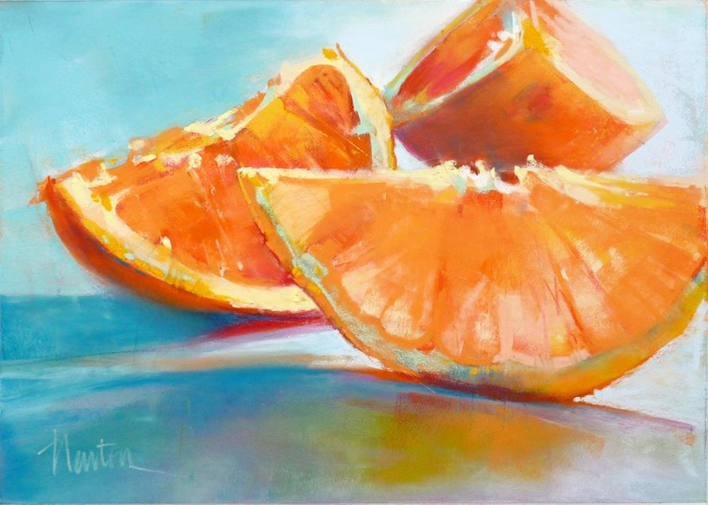 """Orange Slices"" original fine art by Barbara Benedetti Newton"