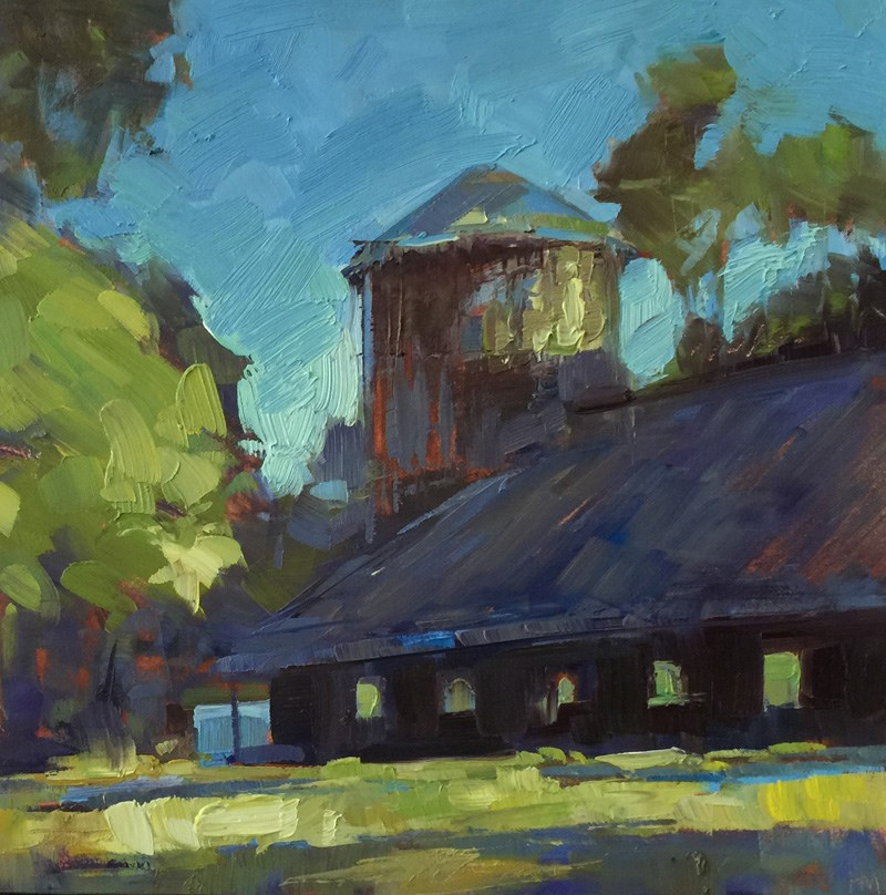 """Pisgah Barn & Silo"" original fine art by Patti McNutt"