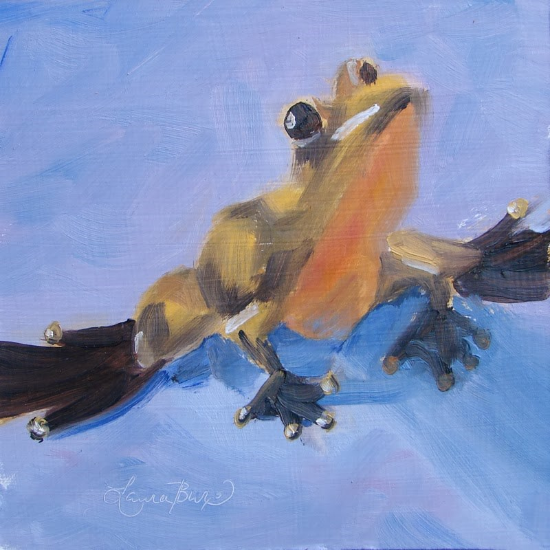 """Goldie II - 94"" original fine art by Laura  Buxo"