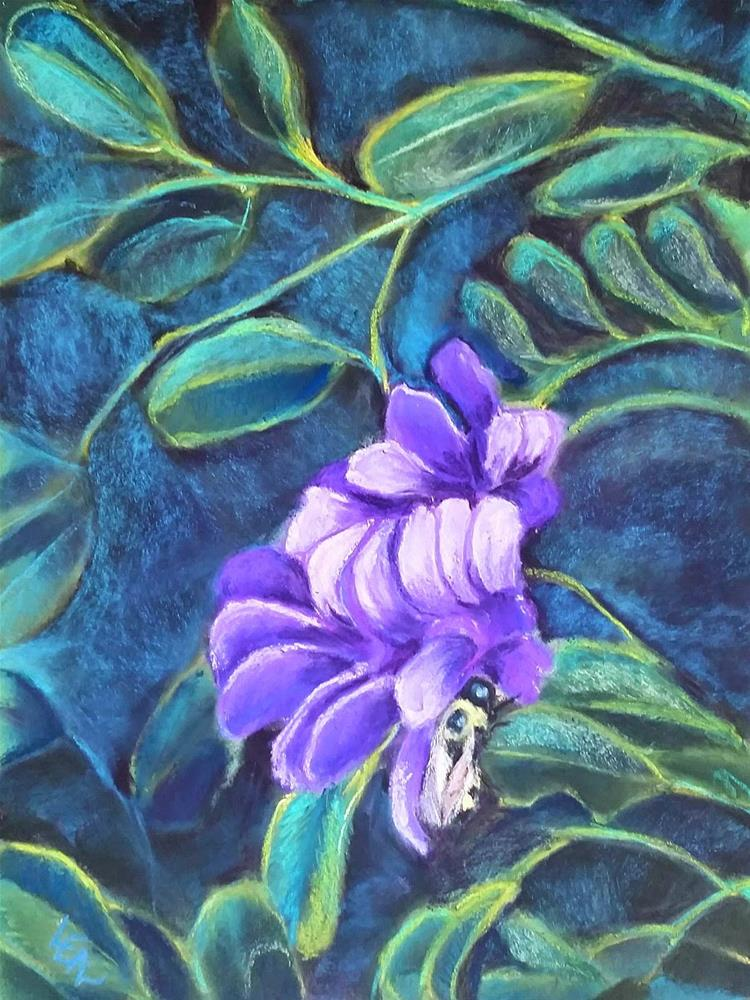"""Purplicious"" original fine art by Anna Lisa Leal"
