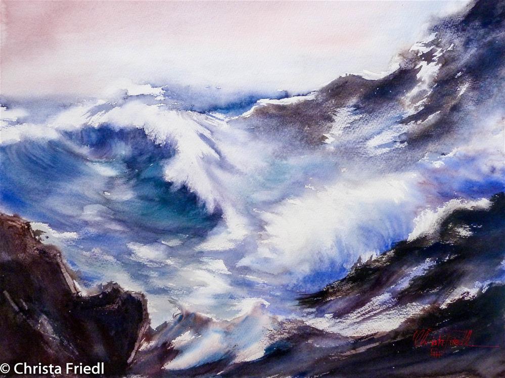 """""""The Big Surf"""" original fine art by Christa Friedl"""