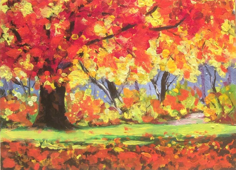 """fall challenge"" original fine art by wendy black"