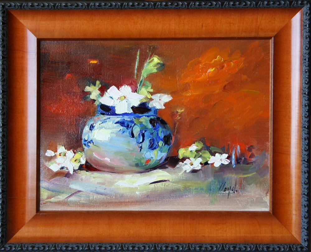 """Blue and White"" original fine art by Diane Lloyd"