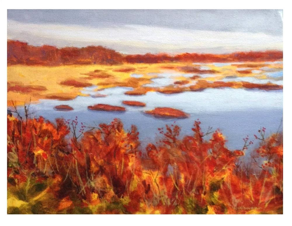 """Marsh View From The Eastern Trail"" original fine art by Suzanne Woodward"