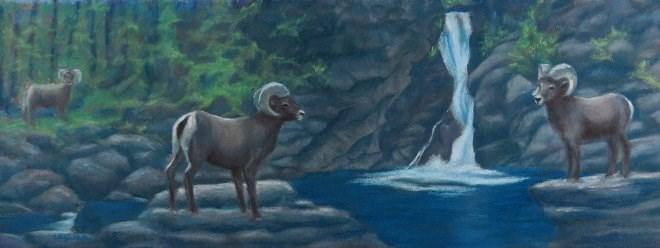 """Boys at the Watering Hole"" original fine art by Carol Zirkle"
