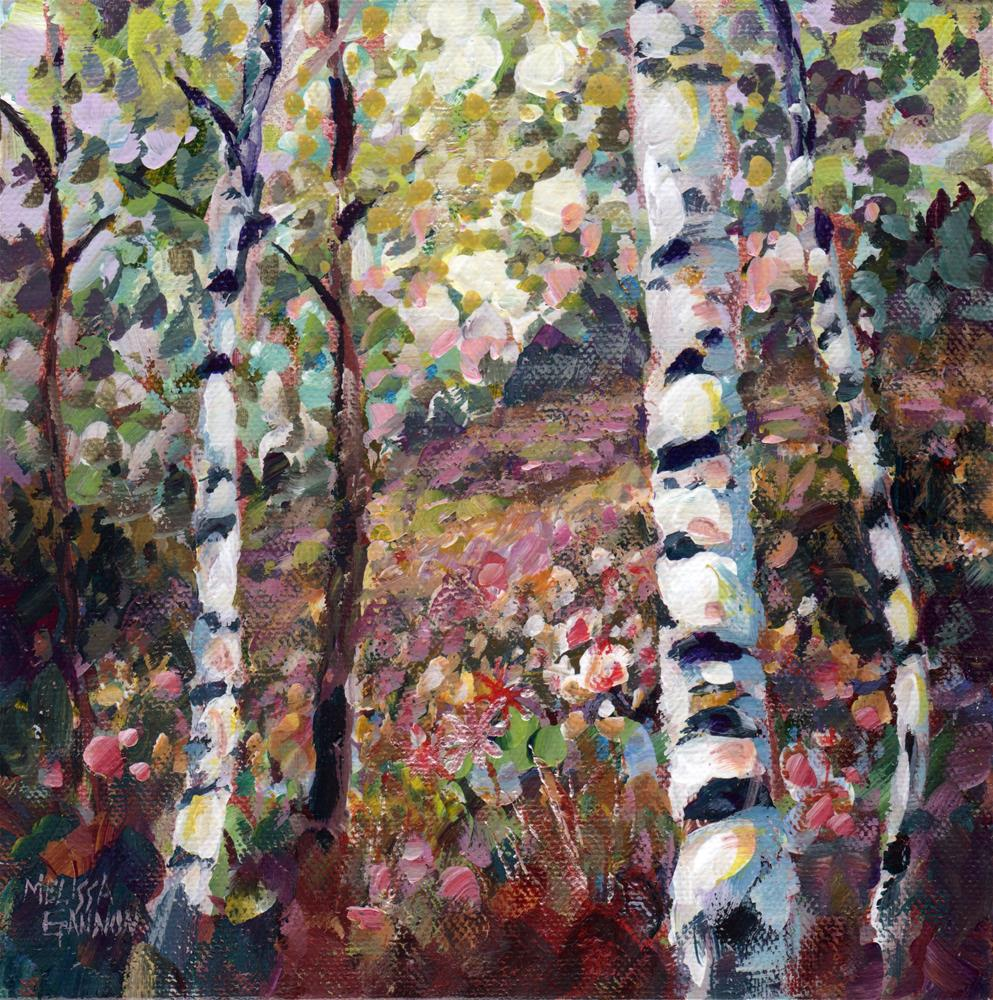 """Trees of Spring"" original fine art by Melissa Gannon"