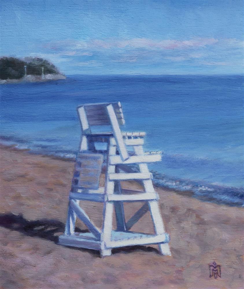 """Beach at Sunset"" original fine art by Melissa  Imossi"
