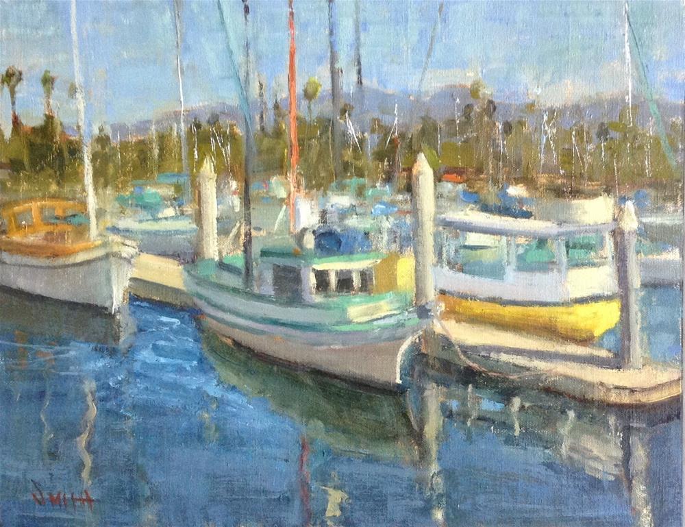 """Santa Barbara Boats"" original fine art by Barbie Smith"