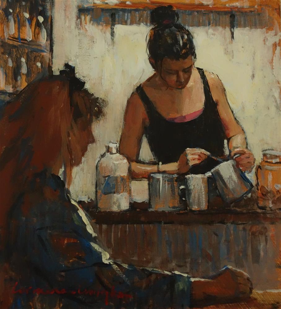 """Coffee Art"" original fine art by Lorraine Lewitzka"