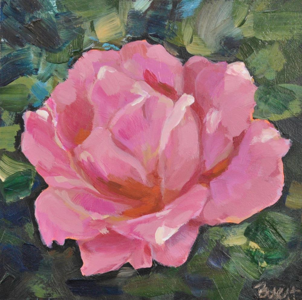 """Pink Rose"" original fine art by Shari Buelt"