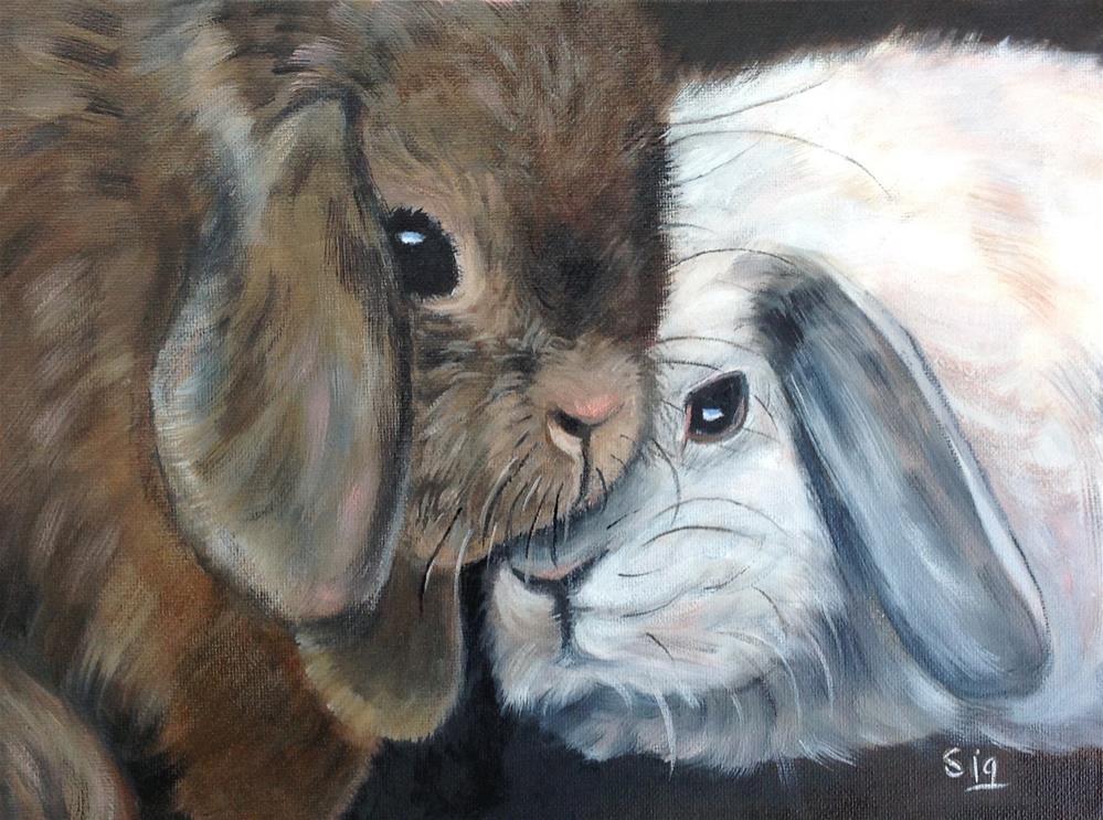 """Side by Side"" original fine art by Sigrid Victor"