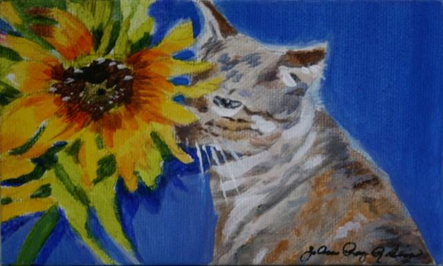 """Nosey Leelou"" original fine art by JoAnne Perez Robinson"