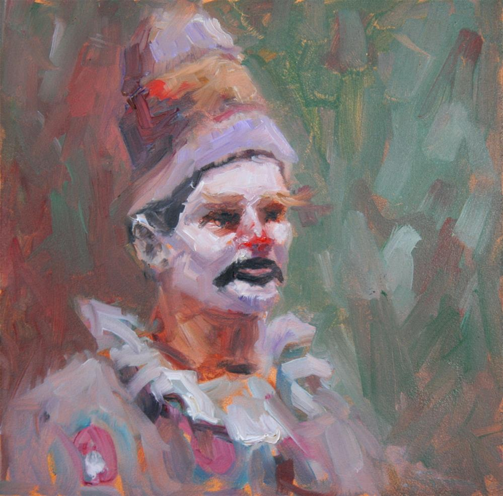 """The Clown"" original fine art by Phyllis McAdams"