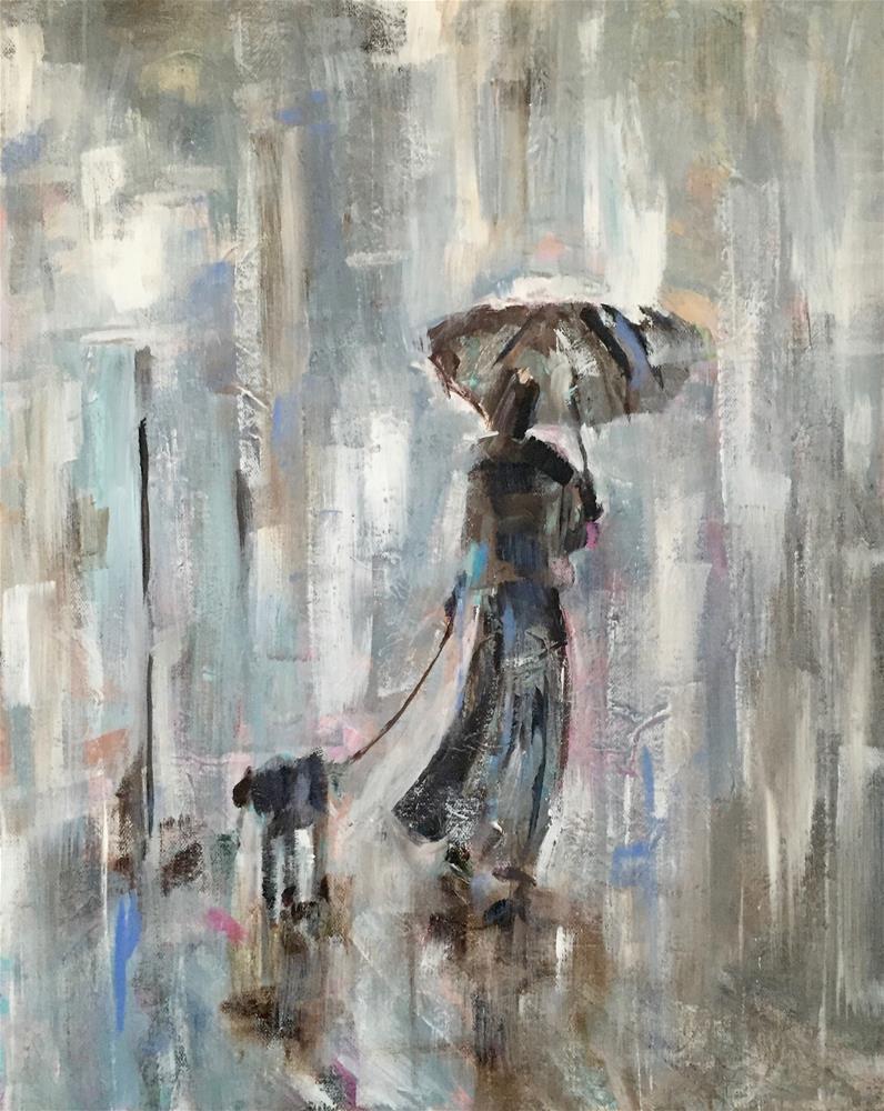 """Rainy Day Companion"" original fine art by Molly Wright"