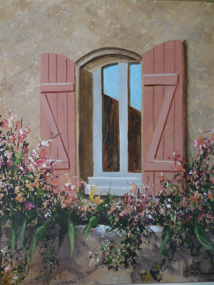 """Coral Window"" original fine art by Terri Nicholson"