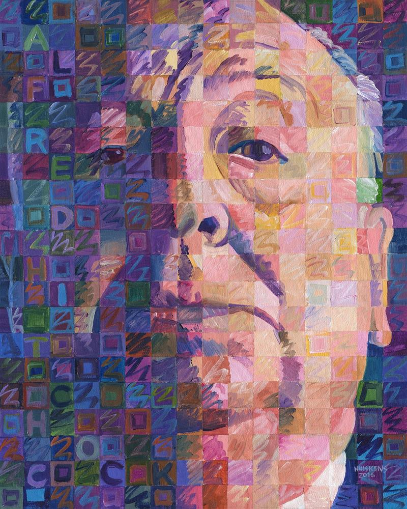 """Alfred Hitchcock No. 4"" original fine art by Randal Huiskens"