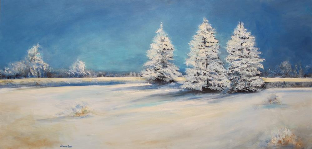 """December Snow"" original fine art by Alina Vidulescu"