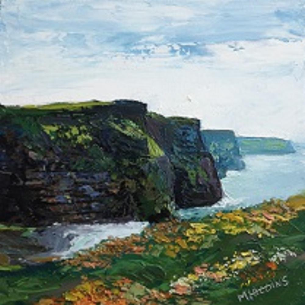 """""""The Cliffs of Moher, County Clare."""" original fine art by Marie O' Higgins"""