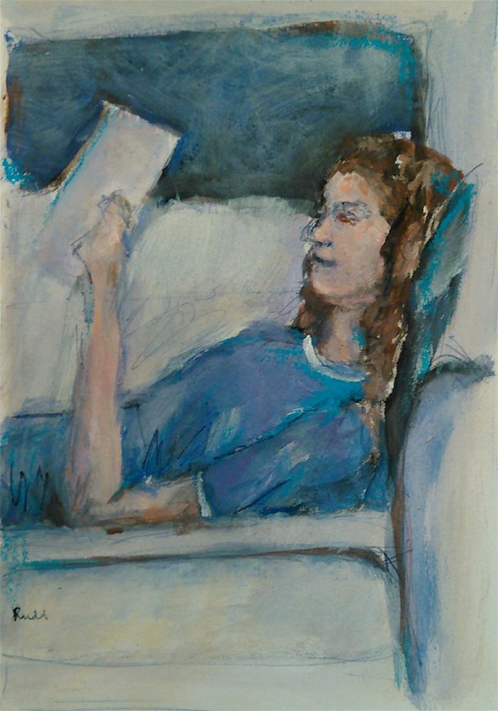 """""""Monday Evening"""" original fine art by Ann Rudd"""