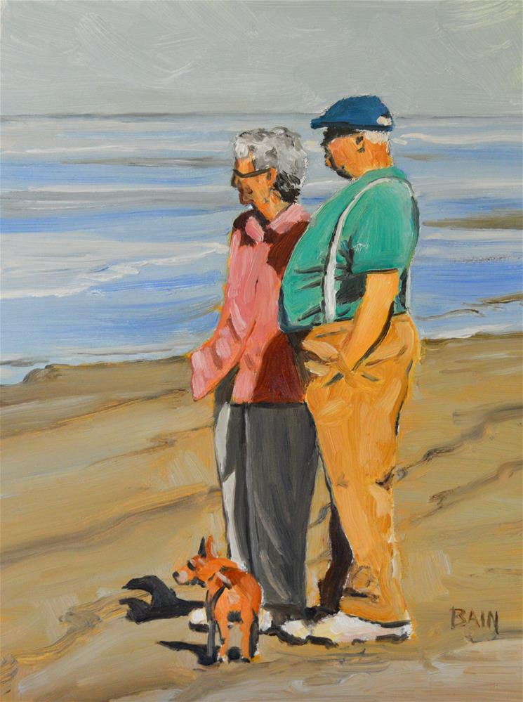 """Sea Gazing"" original fine art by Peter Bain"