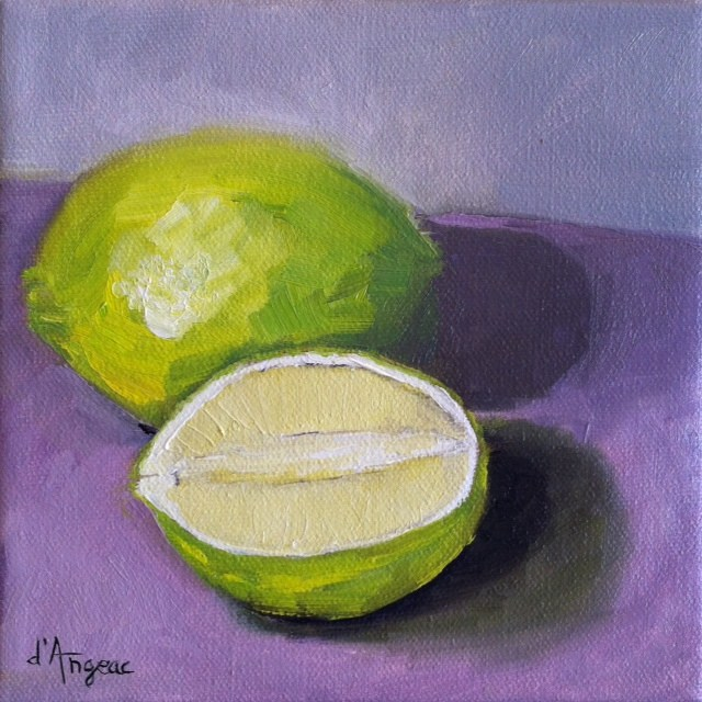 """Lime and a Half"" original fine art by Karen D'angeac Mihm"