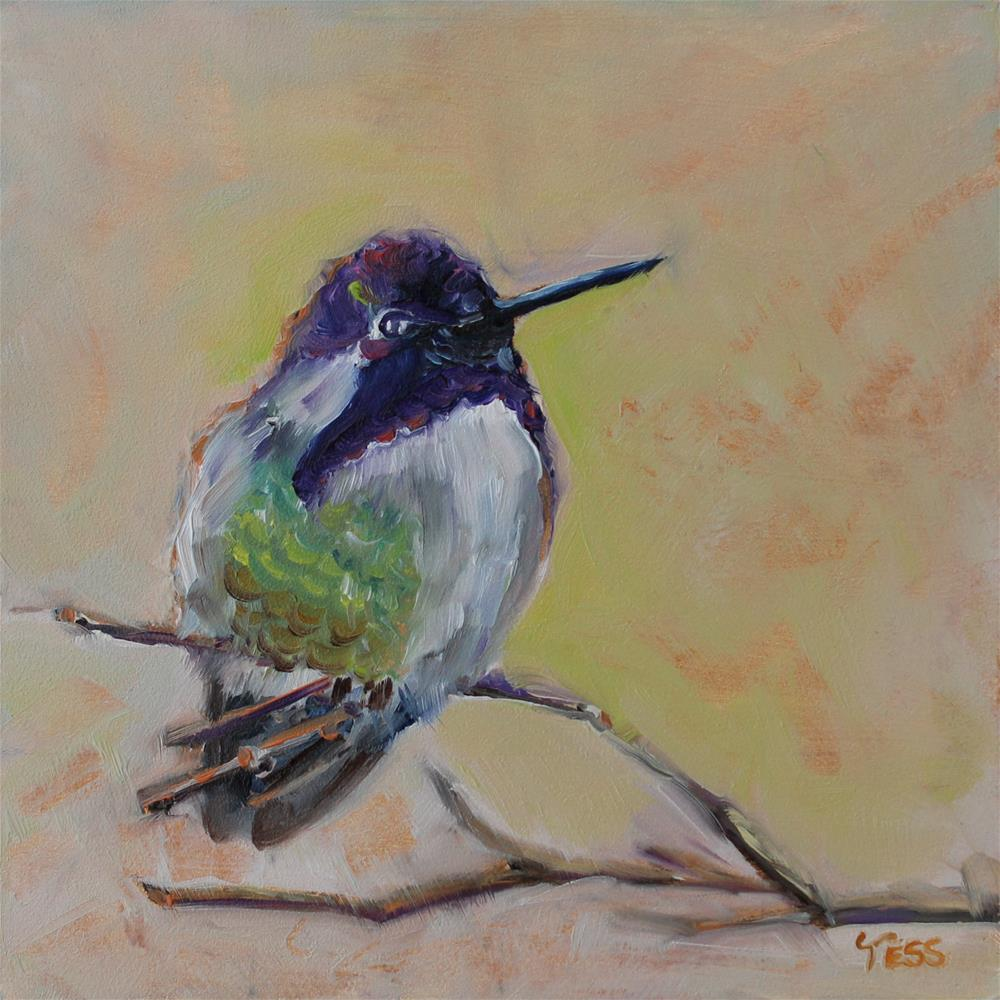 """Day 4-Hummingbird"" original fine art by Tess Lehman"