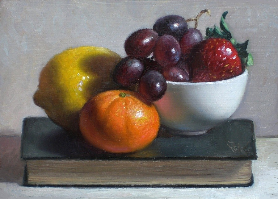 """Fruitful"" original fine art by Debra Becks Cooper"