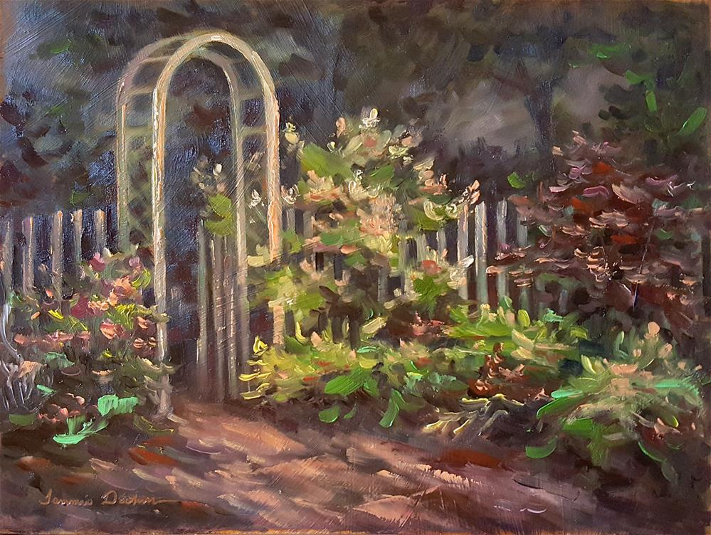 """Dawn in the Garden"" original fine art by Tammie Dickerson"