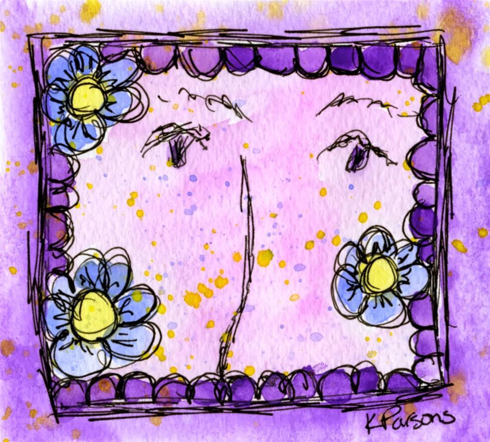 """Shy"" original fine art by Kali Parsons"