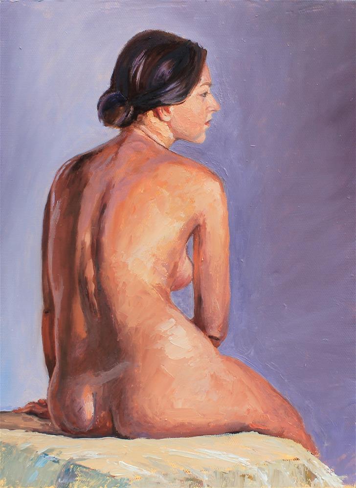 """Classic nude pose"" original fine art by Marco Vazquez"