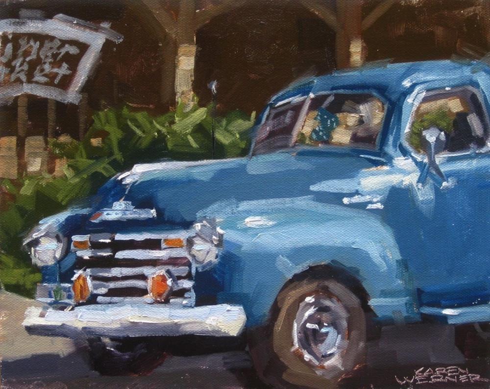 """""""Chevy To Market"""" original fine art by Karen Werner"""