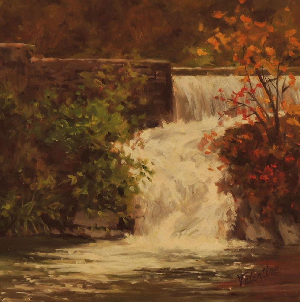 """Little Falls"" original fine art by Barbara Valentine"