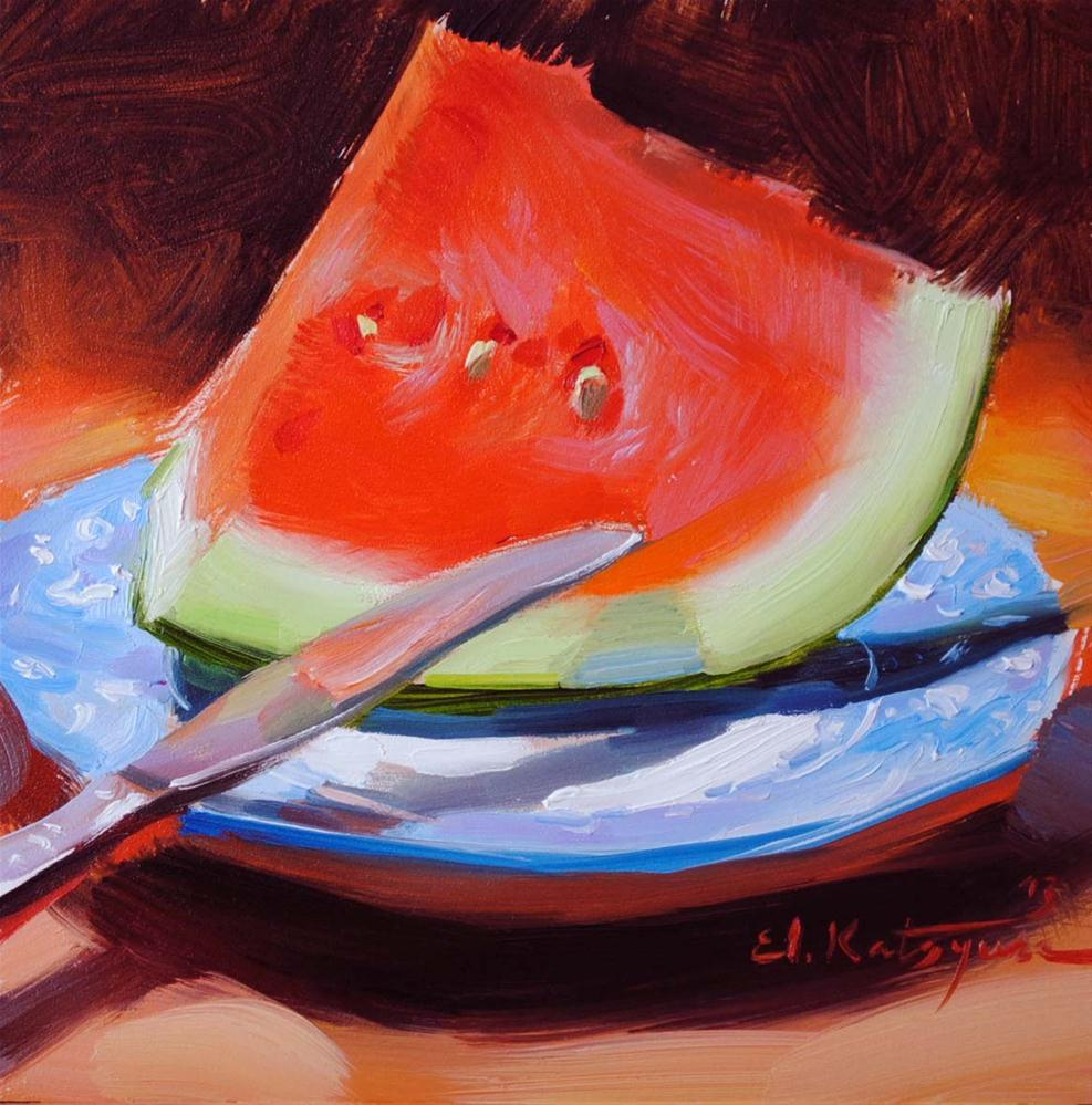 """Slice on a Plate"" original fine art by Elena Katsyura"