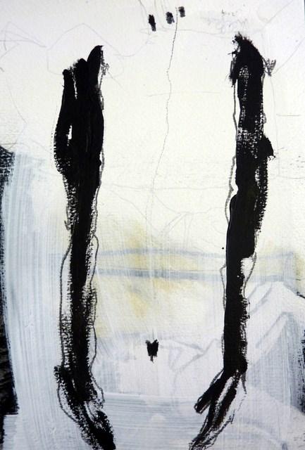 """""""einfach da stehen /  just stand"""" original fine art by Mila Plaickner"""
